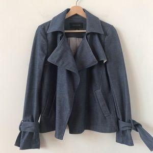 Ann Taylor denim open front jacket